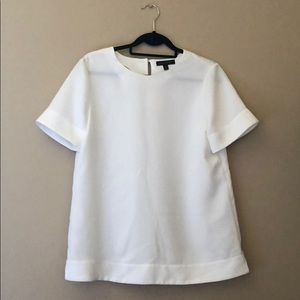 White Banana Republic Short Sleeve Blouse